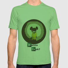 Breaking Mouse Mens Fitted Tee Grass SMALL