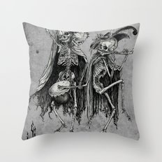 Danse Macabre (variation) Throw Pillow