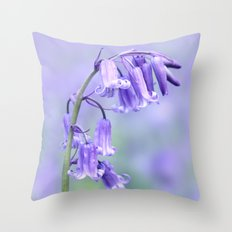 English Bluebell Throw Pillow