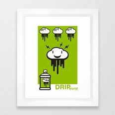 Drip World Green Framed Art Print