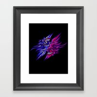 Twin Demons Intertwined Framed Art Print