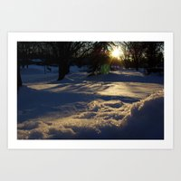Blue Afternoon Art Print