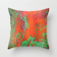 Gravity Painting 3 Throw Pillow