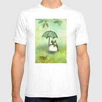 My Friend From Japan Mens Fitted Tee White SMALL