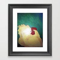 Hen. Framed Art Print