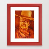 The Duke Framed Art Print