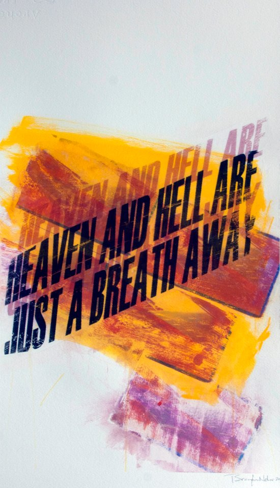 HEAVEN & HELL5 Art Print