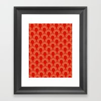 Half Circle Pattern Framed Art Print