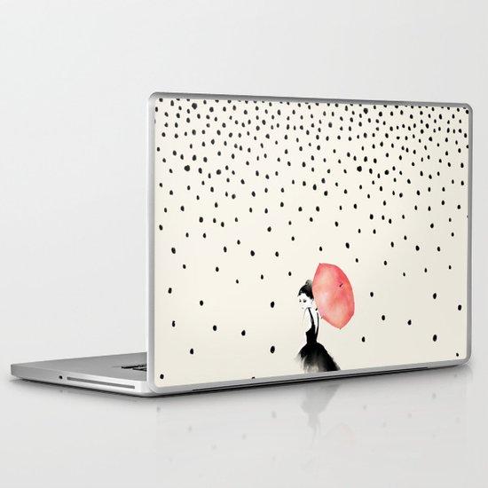 Polka Rain Laptop & iPad Skin