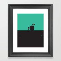 WTF? Golf Framed Art Print