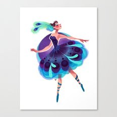 Peacock Tutu Canvas Print
