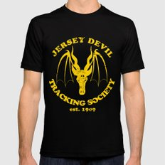 Jersey Devil Tracking Society SMALL Black Mens Fitted Tee