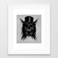 Skull Hat Framed Art Print