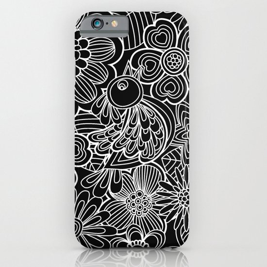 """Welcome birds..""in black and white. iPhone & iPod Case"