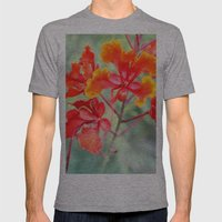 Flowers Mens Fitted Tee Athletic Grey SMALL