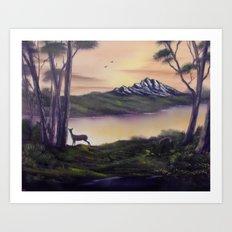 Deer Island Art Print