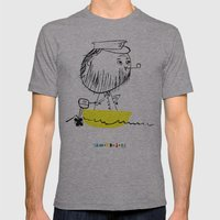 A man in a boat Mens Fitted Tee Athletic Grey SMALL