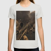 The Sniper Womens Fitted Tee Silver SMALL