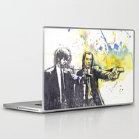 pulp fiction Laptop & iPad Skins featuring Pulp Fiction by idillard