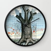 Wood fire Wall Clock