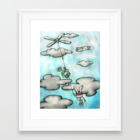 Jack and the Dude with Bunny Ears Framed Art Print