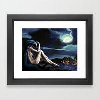 Siren In The Hill Framed Art Print