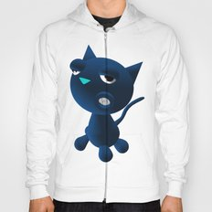 Light Blue Cat Hoody