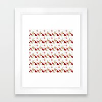 Cute birds pattern Framed Art Print
