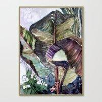 Waving Palms Canvas Print