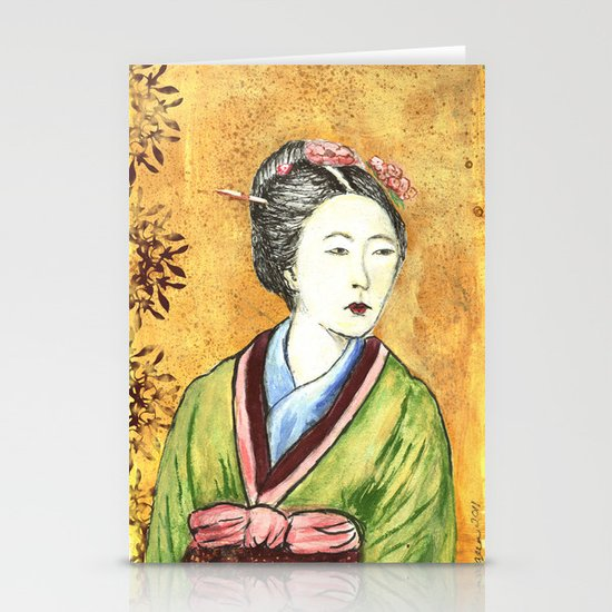 Japanese Woman Stationery Card