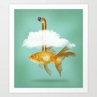 Periscope Goldfish Art Print