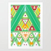 Triangle Indigenous Pattern Art Print