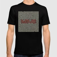 Love game Mens Fitted Tee Black SMALL