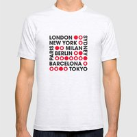 I Love This City Typography Mens Fitted Tee Ash Grey SMALL
