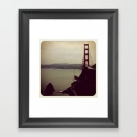 San Frans Cloudy Day Framed Art Print