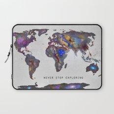 Star map. Never stop exploring... Laptop Sleeve