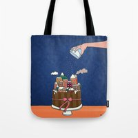 Powdered sugar, not snow! Tote Bag