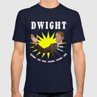 Dwight Schrute     The O… Mens Fitted Tee Navy SMALL