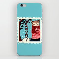 January Cat iPhone & iPod Skin