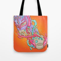 Happily melting Rey Mysterio Tote Bag