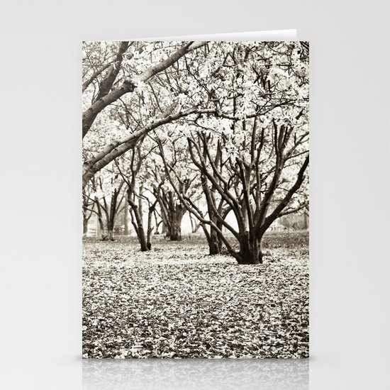 Magnolias in Black & White Stationery Card