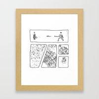 Disc Comic Framed Art Print