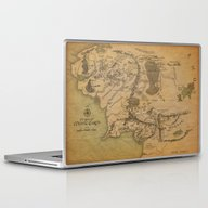 Map Of Middle Earth Laptop & iPad Skin
