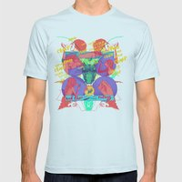 And Then Nothing. Mens Fitted Tee Light Blue SMALL