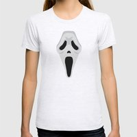 SCREAM Womens Fitted Tee Ash Grey SMALL