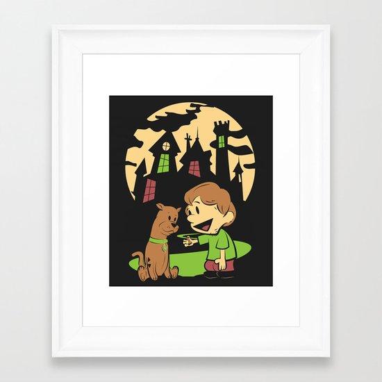 Shaggy n Scoob Framed Art Print