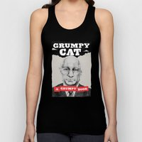 GRUMPY AS THE CAT  Unisex Tank Top
