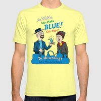 Mr. White Can Make Blue! Mens Fitted Tee Lemon SMALL