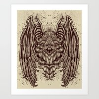 Art Print featuring Theres a BAT! by Derek Guidry