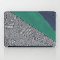 Black, Turquois, Dark Blue iPad Case